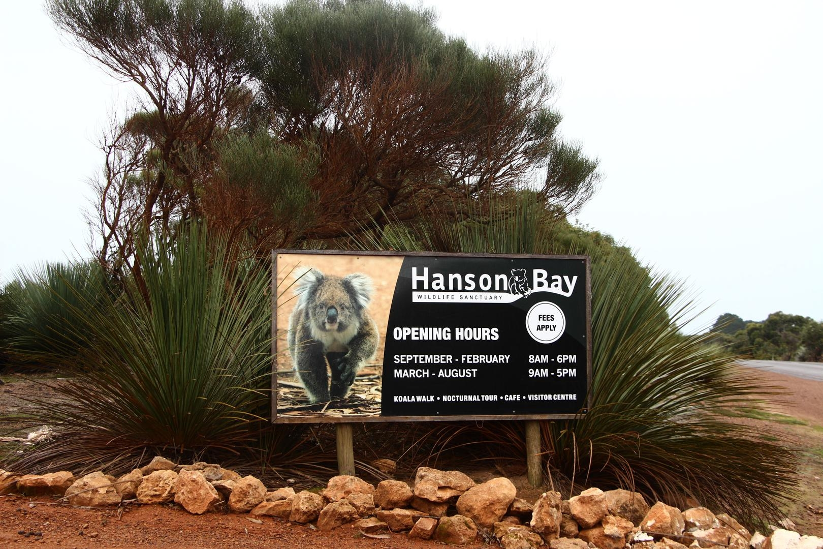 Four day stay at Hanson Bay Nature Reserve